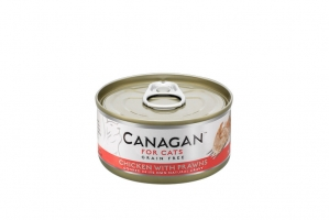 CANAGAN CAT WET CHICKEN WITH PRAWNS 12x75g