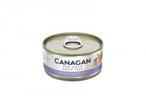 CANAGAN CAT WET CHICKEN WITH DUCK 12x75g