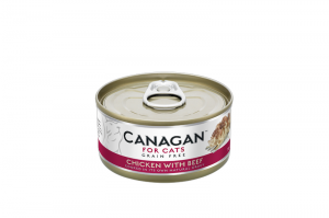 CANAGAN CAT WET CHICKEN WITH BEEF 12x75g