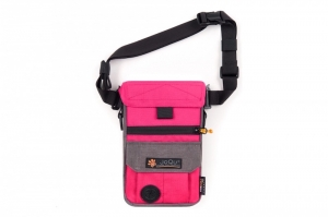 JOQU SASZETKA DOG SNACK BAG PINK/GRAY