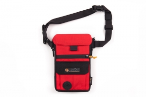 JOQU SASZETKA DOG SNACK BAG RED/BLACK