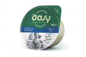 OASY MORE LOVE GREEN CUP CAT TUŃCZYK Z SOLĄ 12x70g