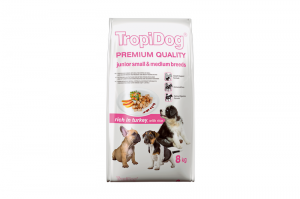 TROPIDOG PREMIUM DOG JUNIOR LARGE BREEDS TURKEY & RICE 2x15kg